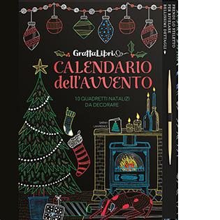 Grattalibri Calendario Dell Avvento 10 Quadretti Natalizi Da Decorare Con Calendario Dell Avvento Da Grattare Con Stilo Di Legno Con 9 Tavole Da Grattare Lac Shop